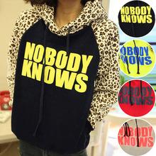 Women Hoodies Sweatshirts New Fashion Women Letters Print Hooded Leopard Casual Sweatshirt Hoodies Sudaderas 4 Colors Q1124 (China (Mainland))