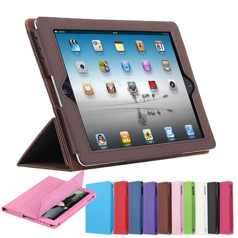 Гаджет  For apple iPad 2 3 Official Folding Folio Smart Stand PU Leather cover for ipad 4 with Retina Display Ultra-thin pouch Bag Case None Компьютер & сеть
