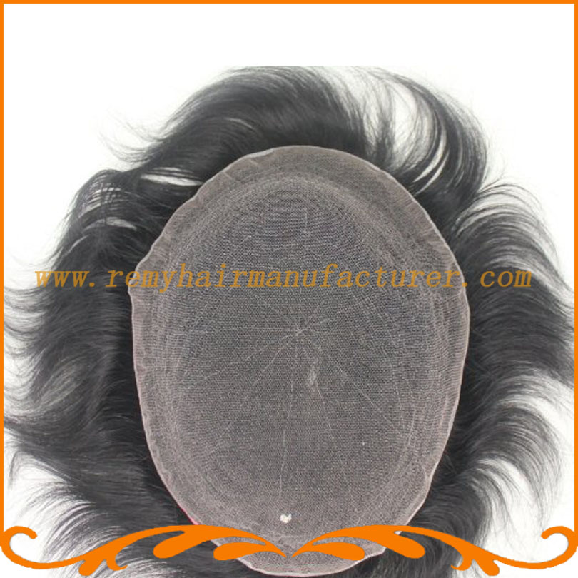 Base style full French lace Indian hair base size 8*10inch mens wigs bleach knots toupee hari system remy hair free shipping(China (Mainland))
