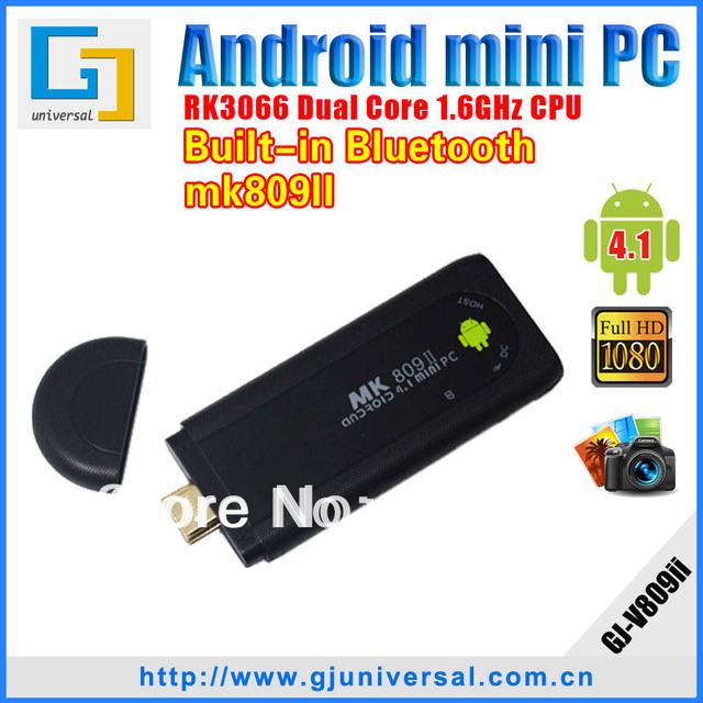 MK809 II Bluetooth 8gb Android mini pc 4.1 Google TV box Dual Core Cortex A9 WiFi 1080P 3D RK3066 MK808 HD player Free shipping