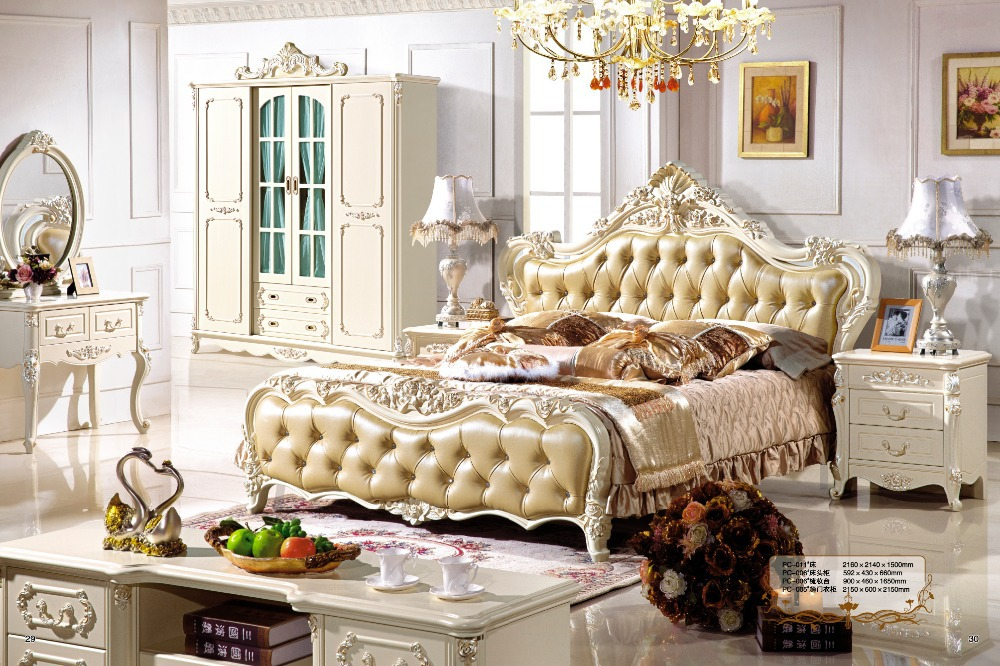 Antique style french furniture elegant bedroom sets pc 010 - French style bedroom furniture sets ...