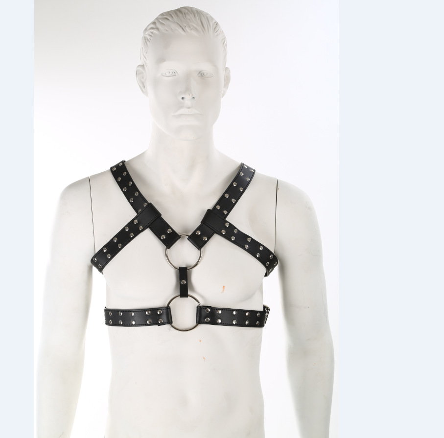 Faux Leather Body Harnesses Men Gay Sexy Slave Costume BDSM Fetish Wear Bondage Male Erotic Apparel Adult Game Cloth Sex Toys(China (Mainland))