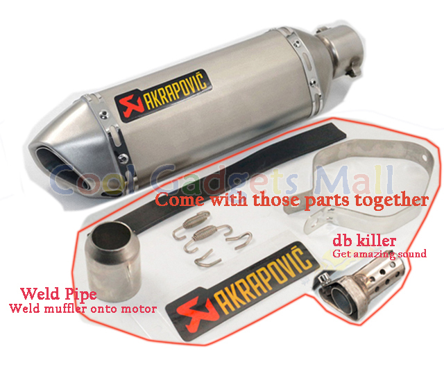 Modified Motorcycle Exhaust Pipe Muffler CBR CB400 CB600 CBR600 CBR1000 CBR250 CBR125 ER6N ER6R YZF600 Z750