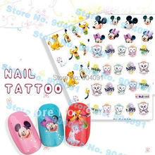 FREESHIPPING  Nail Foils Sticker Nail Art Stick Patch Cartoon Series Nail Tattoo For Fingernail Desgin & decoration,4 designs