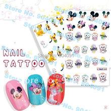 WHOLESALE 90SEEET LOT Nail Sticker Nail Art Stick Patch Cartoon Series Nail Tattoo For Fingernail Desgin