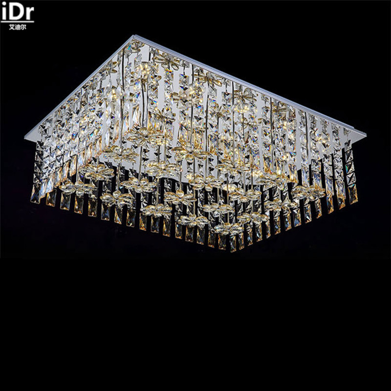Continental oblong rectangular crystal ceiling bedroom lamp living room ceiling corridor led Ceiling Lights Rmy-061
