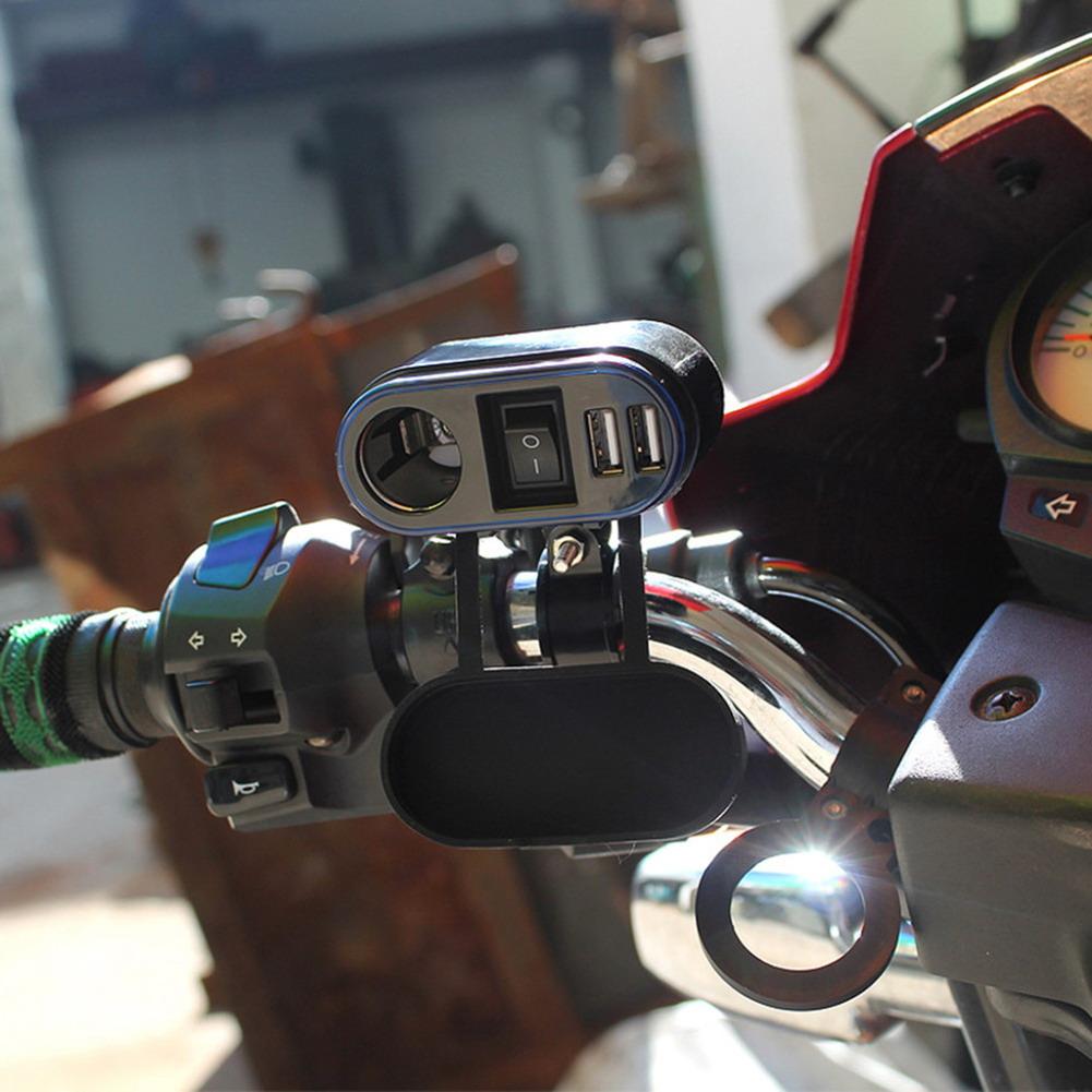Купить Мотоцикл 12 В/24 В 2 Dual USB Зарядное Устройство Прикуривателя Система Зарядки Разъем Питания для ATV Лодка Автомобилей ME3L