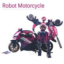 Модель мотоцикла Преобразующей Al Запада Кэрролл Робот Аниме Пластмассовые Игрушки Автомобиль Действие игрушки Фигурку Мальчики Подарок Для Мальчика Игрушки