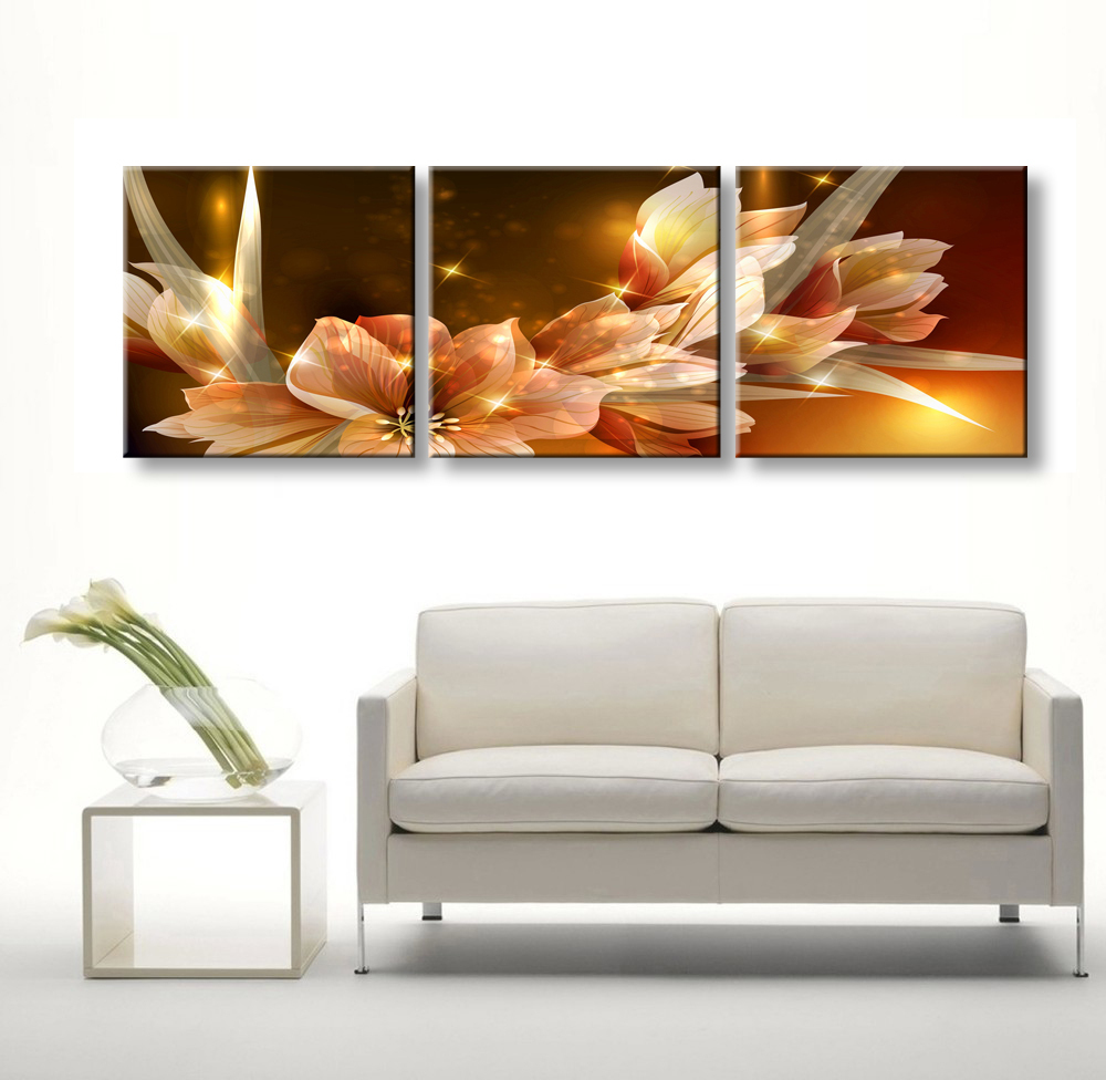 3 Piece Cheap Abstract Modern Wall Painting Transparent