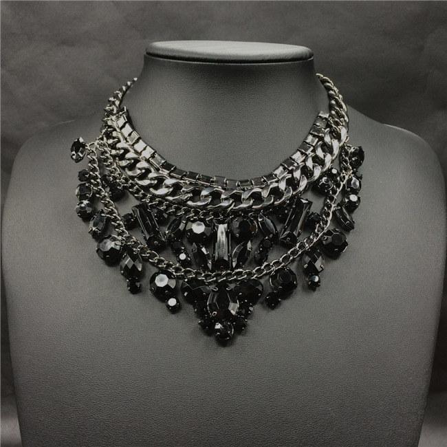 Luxury Crystal Choker Necklace 2015 Fashion Brand Jewelry New Design Summer New Choker Collar Vintage Clain Jewelry 1134(China (Mainland))