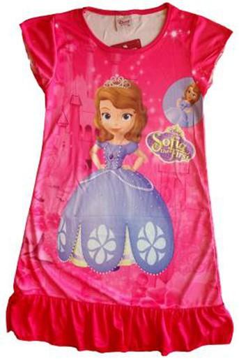 Children's Sleepwear Clothing Girls Cartoon Sofia Short Sleeve Nightgowns Girl pajamas brand baby sleep dress nightclothes 4pcs(China (Mainland))