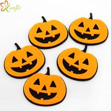 100 pcs/lot High-quality European Halloween Festival DIY Pumpkin Hair Accessories Drop Shipping 2015 Chic Promotional Decoration(China (Mainland))