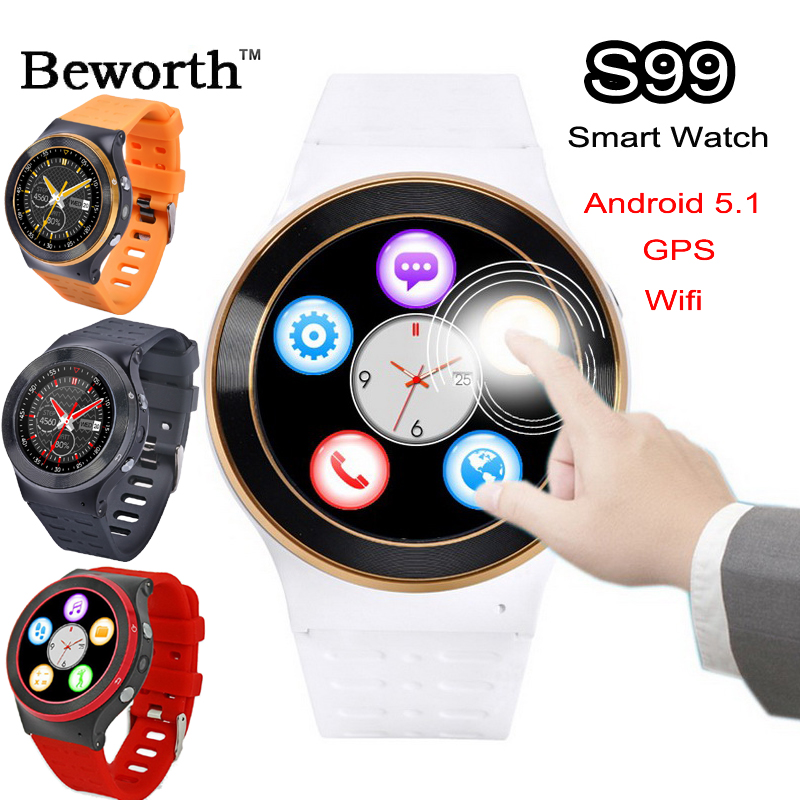 3G Android Smart Watch Phone Wifi Bluetooth Smartwatch ZGPAX S99 Heart Rate Tracker GPS Sport Wristwatch HD Camera SIM Slot DHL(China (Mainland))