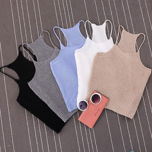 Hot Selling Sexy Women Summer Bralette Bralet Bustier Crop Top Cami Tank Tops Sleeveless Vest(China (Mainland))
