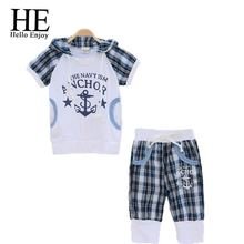 Free shipping Baby boys set summer cotton children clothes Kids White t shirt Harem pants 2pcs
