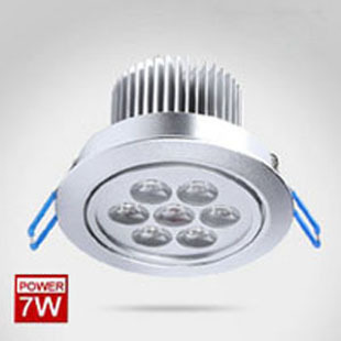 free shipping 6pcs/lot 7W high quality high power Ceiling Recessed Lights,led downlight,down light housingWarm White/Cool White
