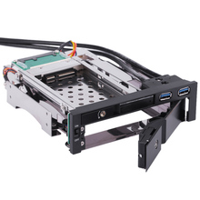 "2016 Dual Bay 3.5"" + 2.5"" SATA III Hard Drive Enclosure HDD & SSD Tray Caddy Internal Mobile Rack Docking Station with Key Lock(China (Mainland))"