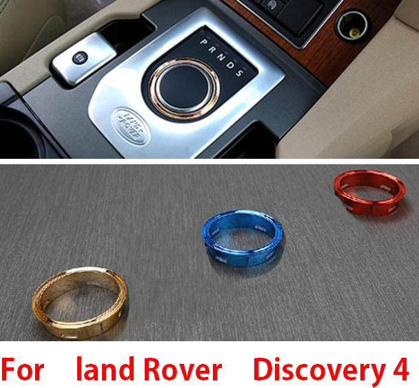 Interior Mouldings Accessories for land rover discovery4 Center console gear shift knob haed cover trim frame sticker(China (Mainland))