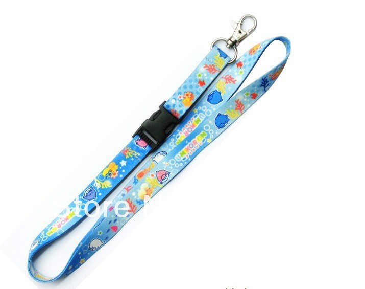 FASHION design silk screen logo print discount friendly fabric lanyards custom business promotion exhibition party neck strap(China (Mainland))