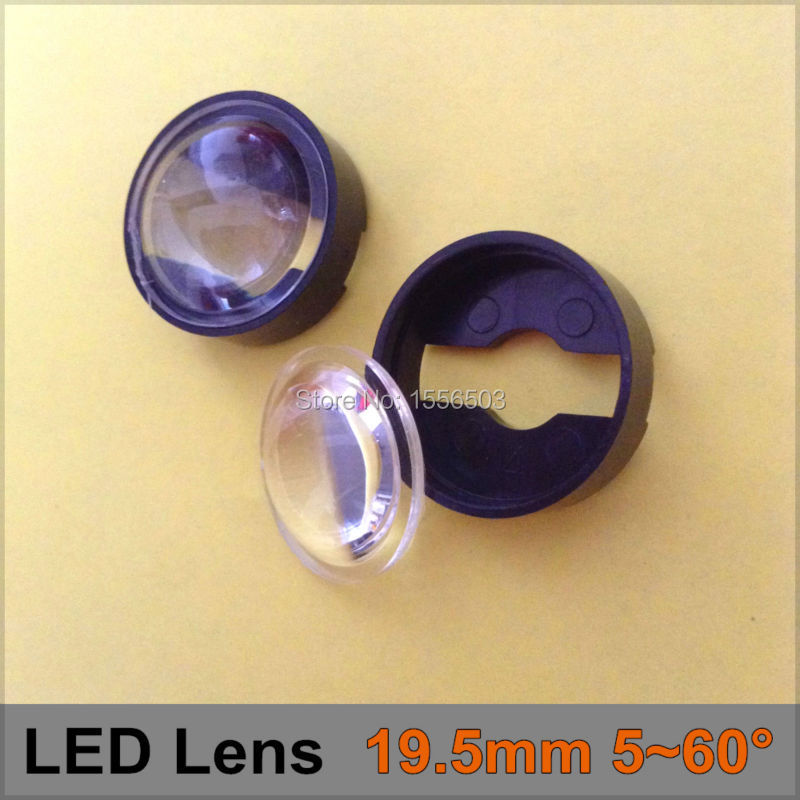 10sets 19.5mm 5-60 degree adjustable Angle LED Lens set with holder Semi-circle Plano-convex Lenses For Luxeon Seoul Edison Cree<br><br>Aliexpress