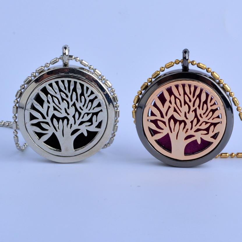 Luowanti Diffuser Locket Pendant Jewelry Aromatherapy Locket Necklace Rhinestone Tree life Lotus Butterfly Locket For Gift(China (Mainland))