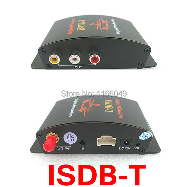 ISDB-T car Digital TV tuner Receiver for Brazil/Chile/Japan 2 way video out put(China (Mainland))