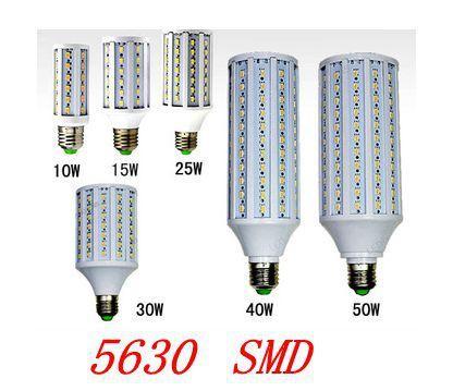 5630 SMD cree chip  E27  B22 E1412W/15W/25W/30W/40W/50W LED 110V/ 220V AC led bulb cool white warm white  blub corn