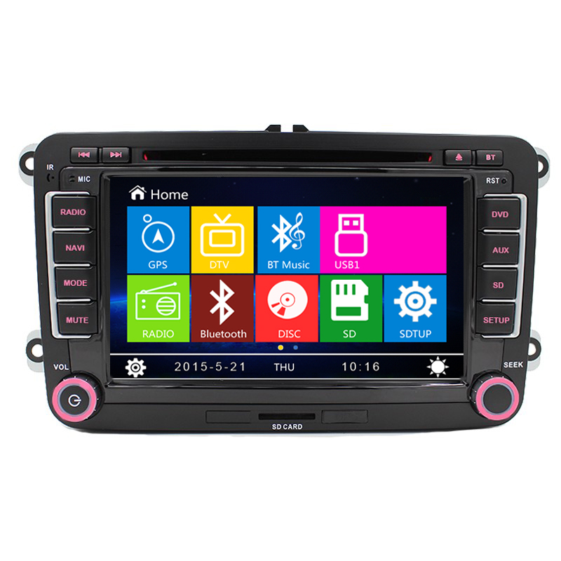 2 Din Auto 7screen Built-in canbus Car DVD with GPS Navigation for VW JETTA PASSAT/B6/CC GOLF 5/6 POLO Touran Tiguan Caddy SEAT<br><br>Aliexpress