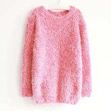 2016 Autumn Winter Women Sweater Warm Mohair O Neck Women Pullover Long Sleeve Casual Loose Sweater Knitted Tops(China (Mainland))