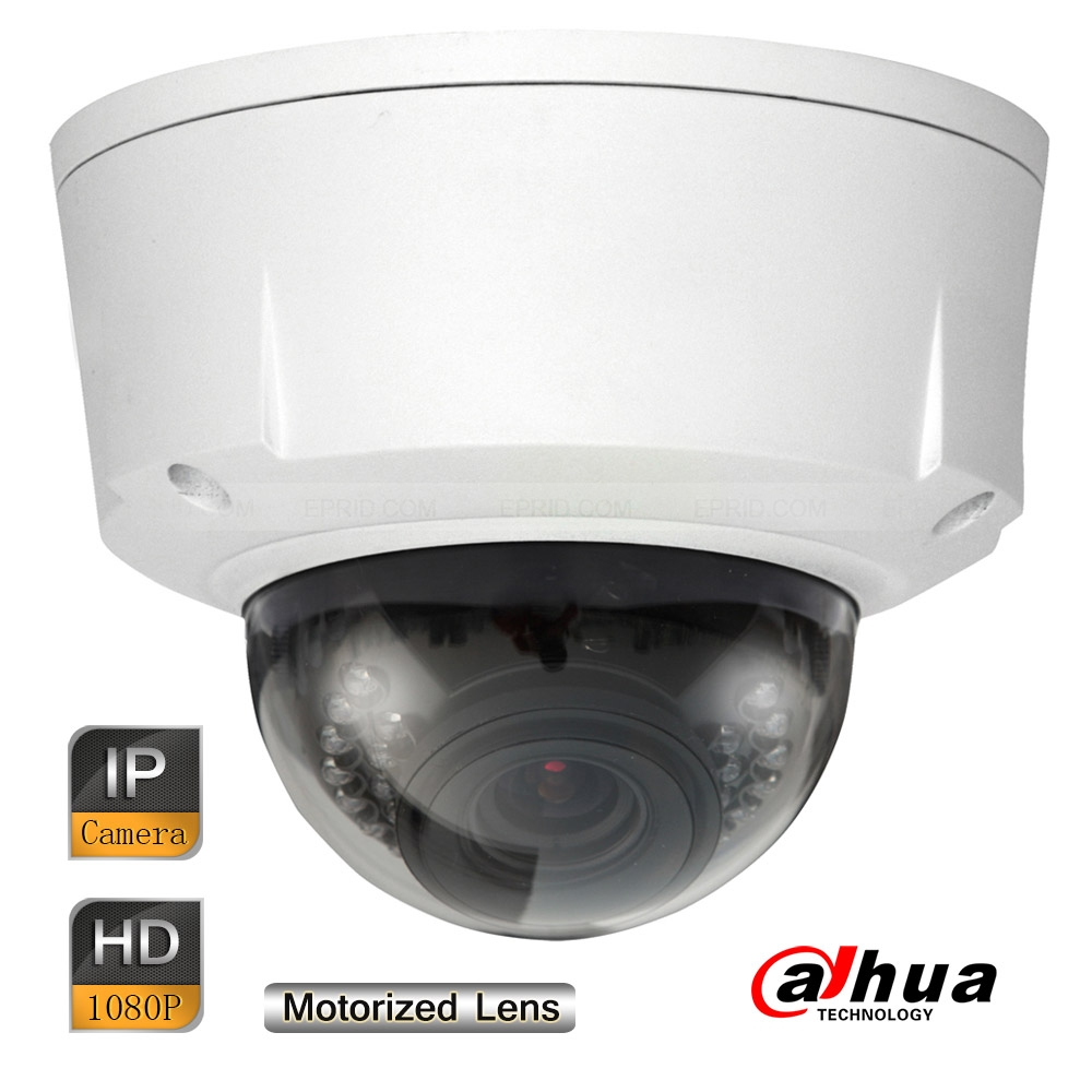 Dahua 2MP Starlight Vandalproof Ultra-smart Network IR Dome Camera Motorized Lens<br>
