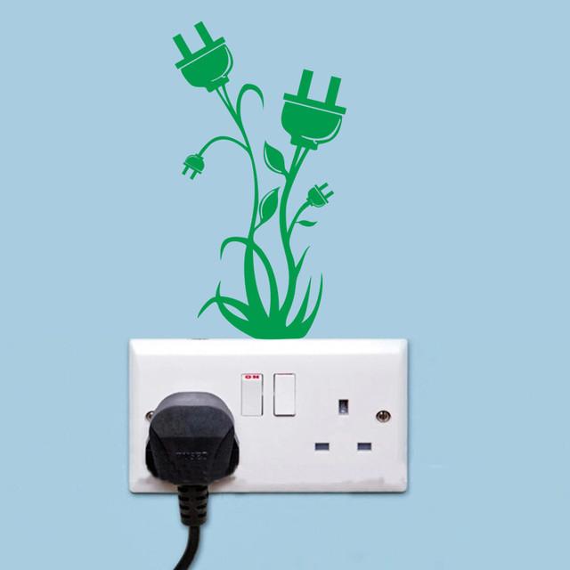 Новое поступление плагин цветок трава переключатель наклейки украшения 3121 стикер стены наклейки для детской комнаты домашнего декора фрески