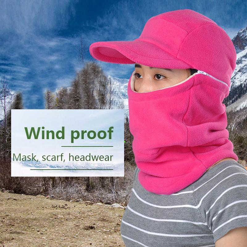 RAPMOV Winter Thermal Bike Headwear Neck Fleece Bike Hat Scarf Masks Bike Windproof Warm Mask Motorcycle Bicycle Face Mask Hat