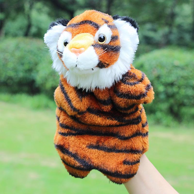 2016 new large plush tiger hand puppets baby toys hand puppets for kids soft animal muppet Kindergarten Marionette dolls model(China (Mainland))