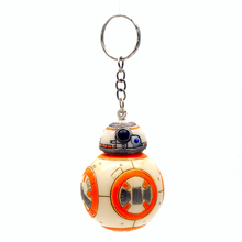 1PCS 2.2inch Star Wars The Force Awakens BB8 BB-8 R2D2 Droid Robot Action Figure stormtrooper Clone Trooper Strap toys