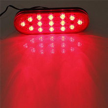 12V 15 LED Car Rear Strobe Tail Brake Stop Flashing Light Fog Lamp for most vehicle Free shipping(China (Mainland))