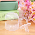 Newborn Transparent Silicone Pacifiers Infant Pacifier Holder Clip Baby Pacifiers Nipples for Children Pacify