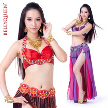 2015 Belly Dance Costume Freeshipping Women Polyester Time-limited Hot Sale belly dance bra and belt belly dancing clothes