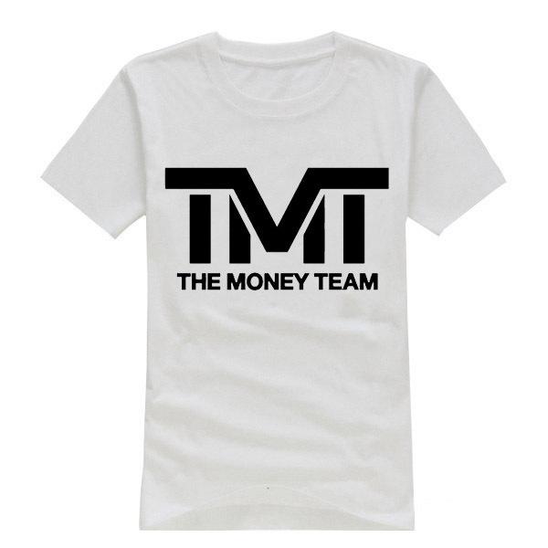 Free Shipping Clothing Floyd Mayweather The Money Team Logo T Shirts Cotton Short Sleeve O Neck T-shirts Boxing Tshirts(China (Mainland))
