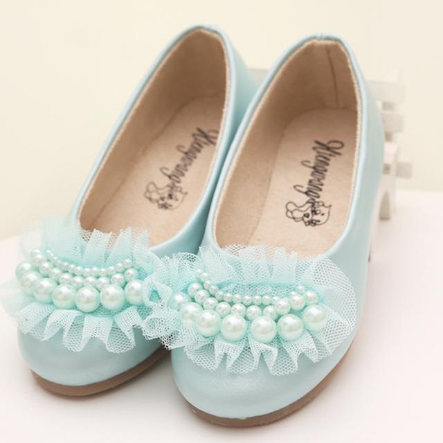 Детская обувь жемчужина шелк бутона студент квадратное отверстие девочка плоским танцевальной ну вечеринку свадебные миньон девушки плоские кожа перл