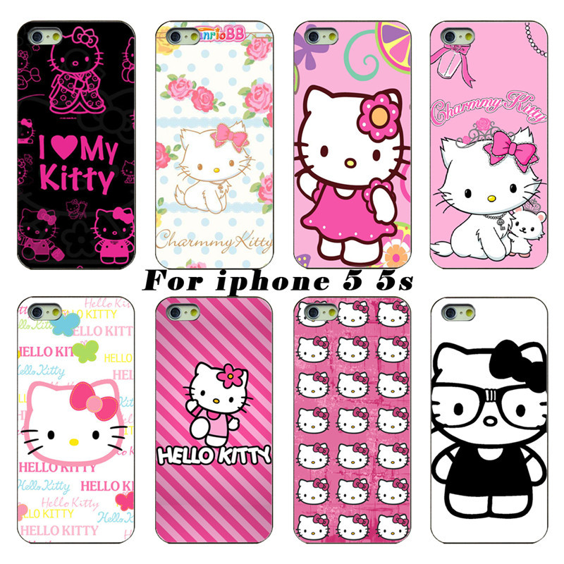 For Apple Phone Shell 2015 Latest Cute Hello kitty Protective Layer For Apple iPhone 5 5s Free Shipping(China (Mainland))