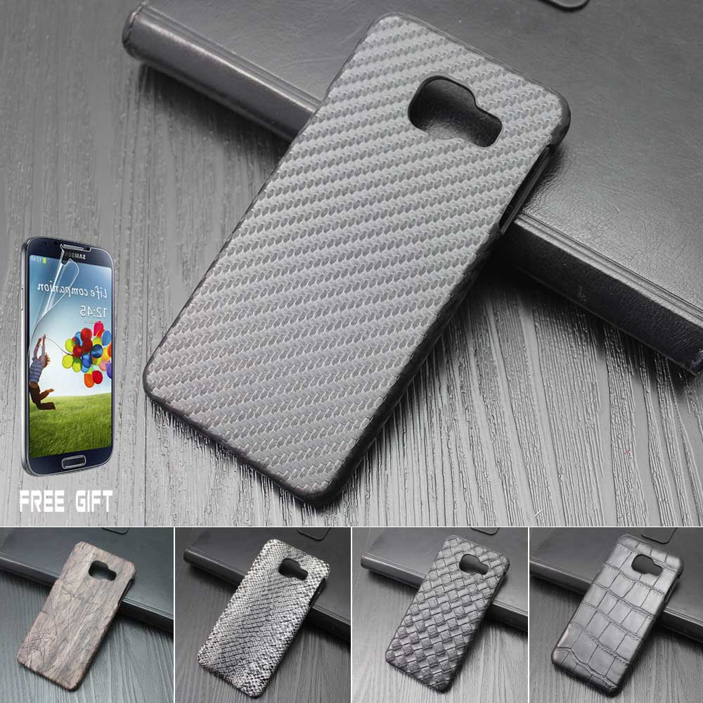 Carbon Fiber Skin Case Crocodile Pattern Phone Case Back Cover Hard Case For Samsung Galaxy A3 A310 A5 A510 (2016)(China (Mainland))