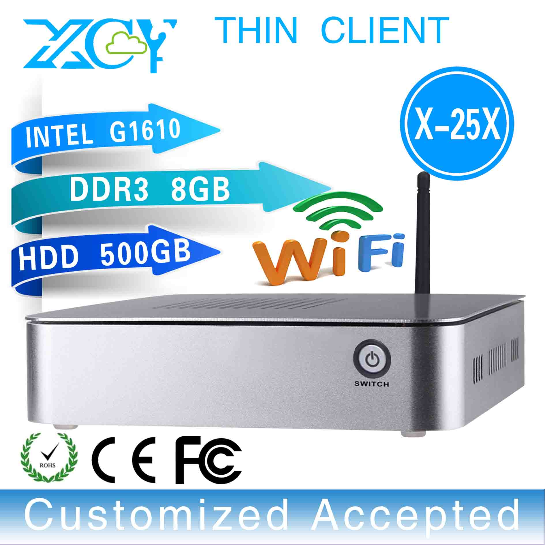 Mini Itx Mini Pc Optiplex Thin Client X-25x G1610 Wifi Support Os WIN7, Linux, Windows XP,Ubuntu Debian 8GB RAM 500GB HDD(China (Mainland))