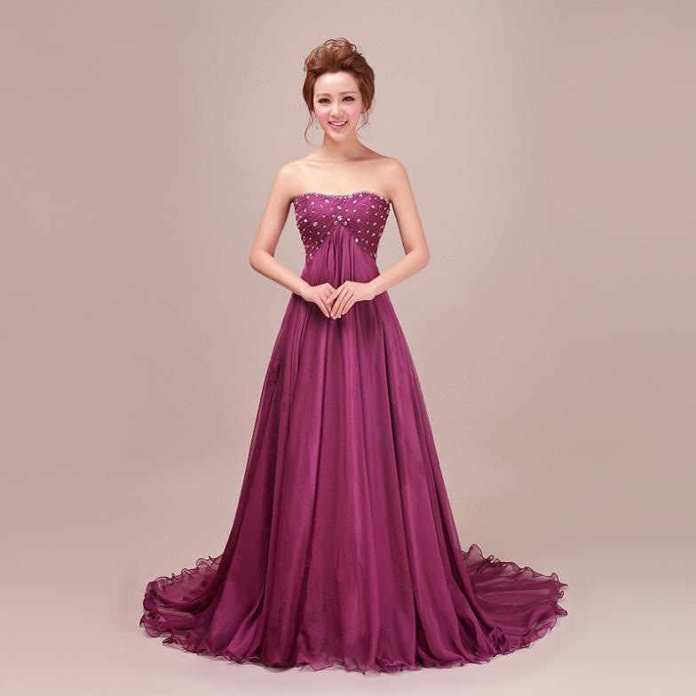Prom Dresses 2013 noble elegant tube top Evening dresses diamond decoration Bridal Dress Party - Judy Chen Store store
