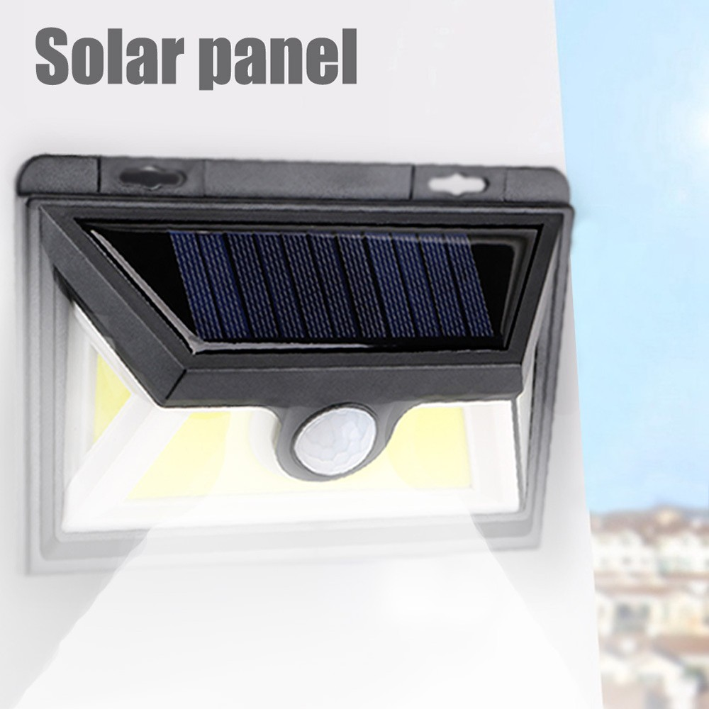 Solar Powered Waterproof Outdoor 95 Led Pir Motion Light Sensor No Wiring Wirless Wall Lamp For Size 153 105 48 Cm