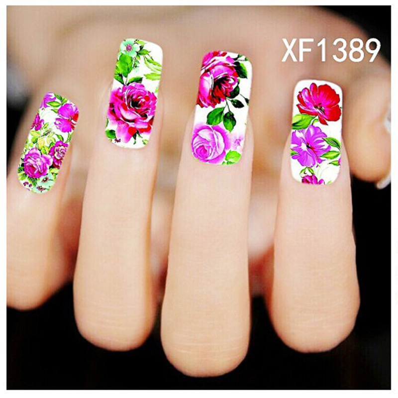 New Nail Art Decorations Flower Water Transfer Nail Sticker Water Decals Nail Design Temporary Tattoos Watermark(China (Mainland))