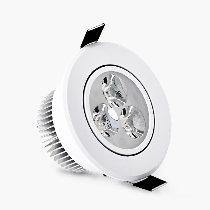 Ultra Bright 3W LED Ceiling Downlight kit Recessed Ceiling Lamp Bulb + Driver AC85-265V Warm white/white,indoor lighting(China (Mainland))