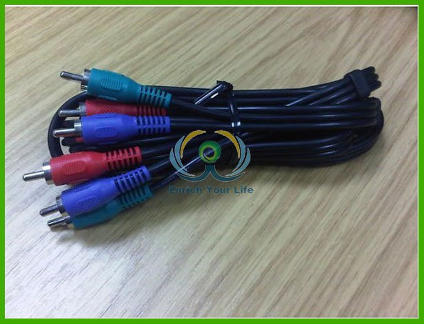 Component Video RGB RCA Phono Fono Cable Lead(China (Mainland))