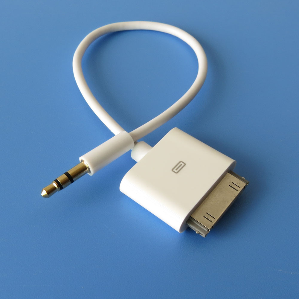Dock Connector to AUX 3.5mm Audio Cable for iPhone 3GS 4 4S iPod iTouch(China (Mainland))