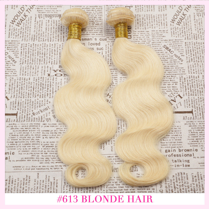 2PCS Ombre Hair Extensions 12-30inch Bleach Blonde Virgin Hair,7A Virgin Hair Ombre Hair Weave Bundles,Free Shipping(China (Mainland))