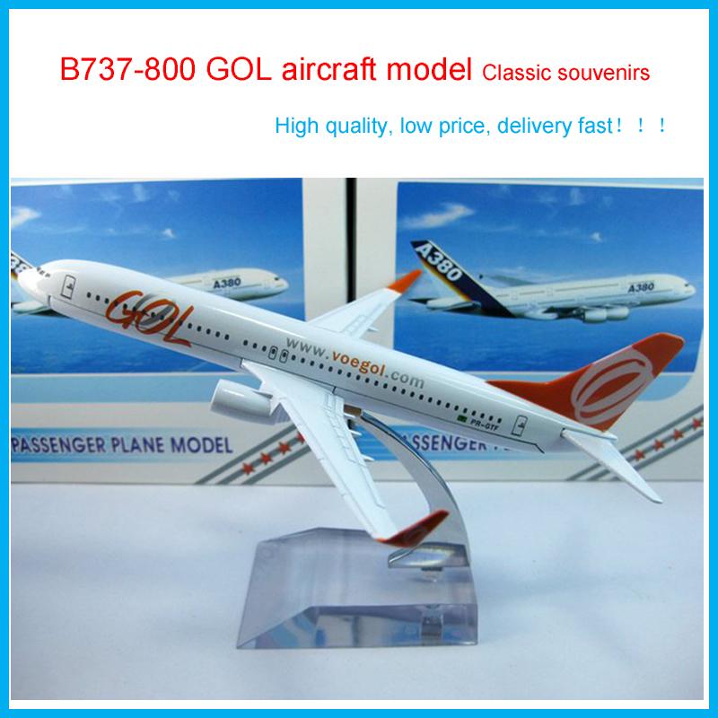 2016 Cheerleading Souvenirs Brazil B737-800 GOL aircraft model,16cm Simulation airplane model,Metal air airlines plane model(China (Mainland))